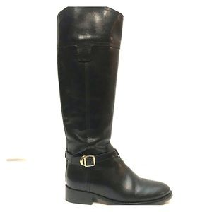 NEW Tory Burch Tall Black Leather Riding Boots 5